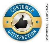gold customer satisfaction... | Shutterstock .eps vector #1138405652