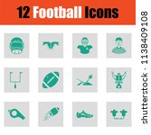 american football icon. green... | Shutterstock .eps vector #1138409108