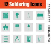 set of soldering  icons. green... | Shutterstock .eps vector #1138409132