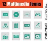 set of multimedia icons. green... | Shutterstock .eps vector #1138409162