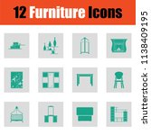 home furniture icon set. green... | Shutterstock .eps vector #1138409195