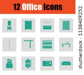 office furniture icon set.... | Shutterstock .eps vector #1138409252