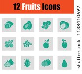 set of fruits icons. green on... | Shutterstock .eps vector #1138410692