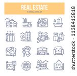 real estate doodle vector icons ... | Shutterstock .eps vector #1138413818