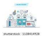 online education  training... | Shutterstock . vector #1138414928