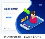isometric wen banner with... | Shutterstock .eps vector #1138417748