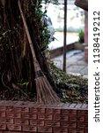 traditional besom broom  old...   Shutterstock . vector #1138419212