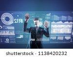helpful gadget. experienced... | Shutterstock . vector #1138420232