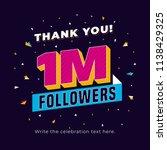 1m followers  one million... | Shutterstock .eps vector #1138429325