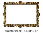 straw mat rectangular frame for ... | Shutterstock . vector #11384347