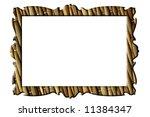 straw mat rectangular frame for ... | Shutterstock . vector #11384347