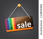 sale hanging sign | Shutterstock .eps vector #113843482