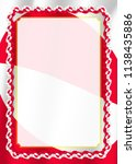 frame and border of ribbon with ... | Shutterstock .eps vector #1138435886