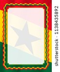 frame and border of ribbon with ... | Shutterstock .eps vector #1138435892