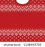 ugly sweater merry christmas... | Shutterstock . vector #1138445705