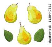 autumn harvest of pears  set ... | Shutterstock .eps vector #1138447532