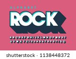 retro 3d display font design ... | Shutterstock .eps vector #1138448372