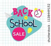 back to school sale hand drawn... | Shutterstock .eps vector #1138449152