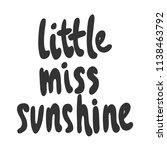 little miss sunshine. sticker... | Shutterstock .eps vector #1138463792