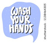 wash your hands. sticker for... | Shutterstock .eps vector #1138464305