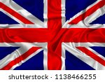 silk flag of gb | Shutterstock . vector #1138466255