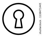 modern flat keyhole icon | Shutterstock .eps vector #1138471445