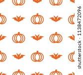 seamless cute pumpkin in... | Shutterstock .eps vector #1138472096
