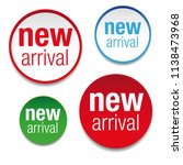 new arrival label tag set vector | Shutterstock .eps vector #1138473968