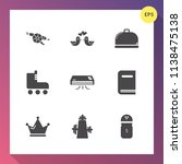 modern  simple vector icon set... | Shutterstock .eps vector #1138475138