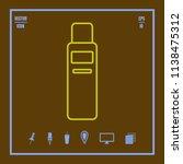 shampoo line vector icon. flat...   Shutterstock .eps vector #1138475312