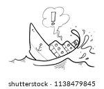 Sinking Ship Drawing
