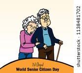 world senior citizen day | Shutterstock .eps vector #1138481702