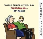 world senior citizen day | Shutterstock .eps vector #1138481705