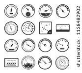 black meter icon set.... | Shutterstock .eps vector #1138482902