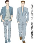 fashion men | Shutterstock .eps vector #113848762