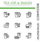 tea disposable paper cup with... | Shutterstock .eps vector #1138492508