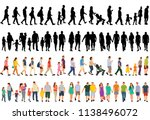 isolated silhouette people go ... | Shutterstock .eps vector #1138496072