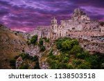 view of matera at twilight ...   Shutterstock . vector #1138503518