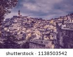 view of matera at twilight ...   Shutterstock . vector #1138503542