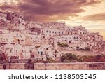 view of matera at twilight ...   Shutterstock . vector #1138503545