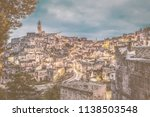 view of matera at twilight ...   Shutterstock . vector #1138503548