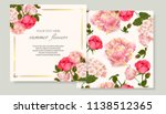 vector banners set with roses... | Shutterstock .eps vector #1138512365