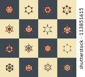 vector design elements   retro...   Shutterstock .eps vector #113851615