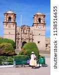 Small photo of PUNO PERU NOVEMBER 28: The Cathedral Baselica San Carlos Borromeo or Puno Cathedral is a Andean Baroque cathedral in the city of Puno in south-eastern Peru. On November 28 2010, Puno, Peru