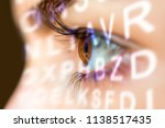 close up of an eye and vision... | Shutterstock . vector #1138517435