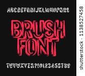 brush lettering alphabet font.... | Shutterstock .eps vector #1138527458