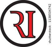 ri letter vector logo | Shutterstock .eps vector #1138534742