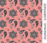 paisley seamless pattern ... | Shutterstock .eps vector #1138545635