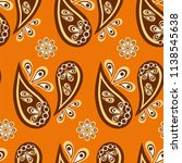paisley seamless pattern ... | Shutterstock .eps vector #1138545638