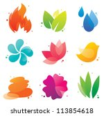 abstract nature isolated icons... | Shutterstock .eps vector #113854618